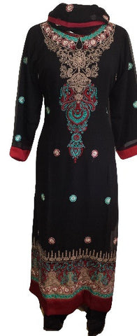 Special Occasions Chiffon Shalwar Kameez with Embroidery - Arabic Islamic Shopping Store - 1