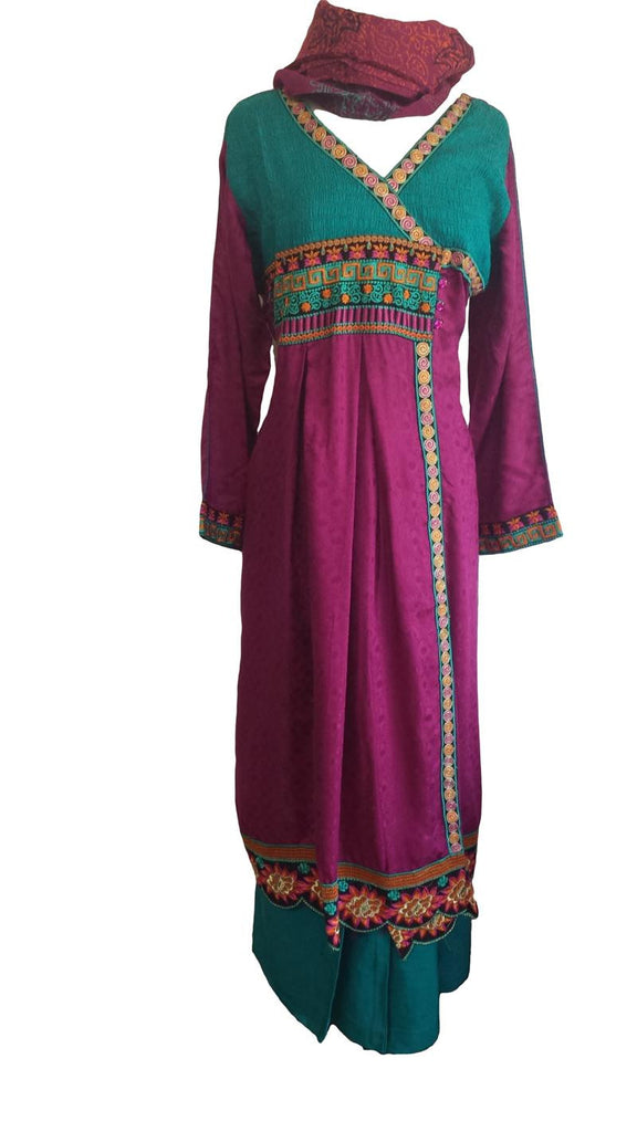 Anarkali styled Pakistani Shalwar Kameez Eid Dress - Arabic Islamic Shopping Store - 1