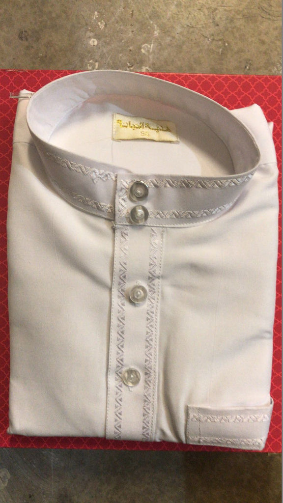 Arabic White Thobe for Boys