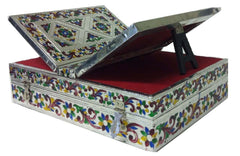 Holy Book Box / Convertible Rehal Quran Bible holder with German Silver (Assorted Designs) - Arabic Islamic Shopping Store - 1