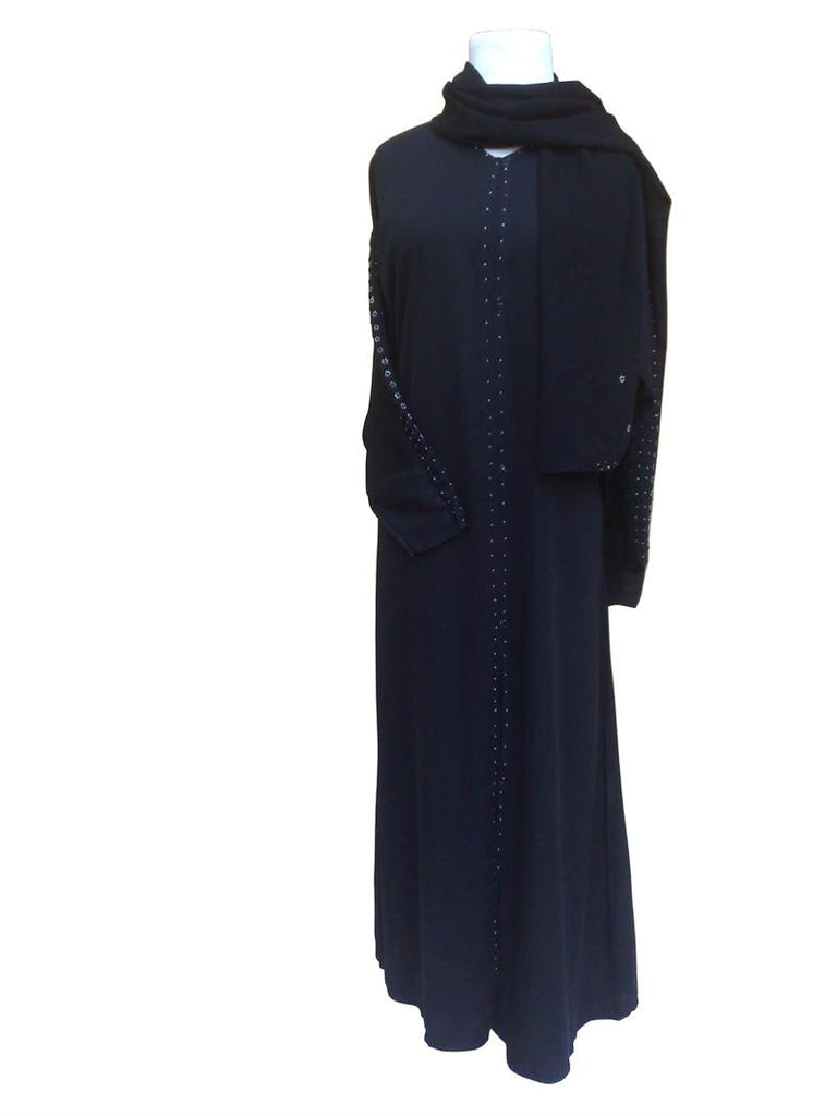 Sharjah Abaya with Beaded Sleeves - Arabic Islamic Shopping Store
