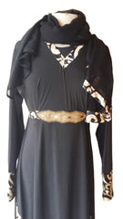 Rabiya Lycra Stretchable Abaya with Belts and Panels - Arabic Islamic Shopping Store - 2
