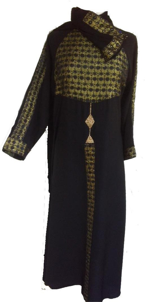 Netted Dual Colored Abaya from Jeddah - Arabic Islamic Shopping Store