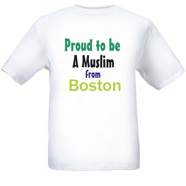 Muslim T-Shirts Clothing - Boston, Massachusetts logo design for men and women - Arabic Islamic Shopping Store