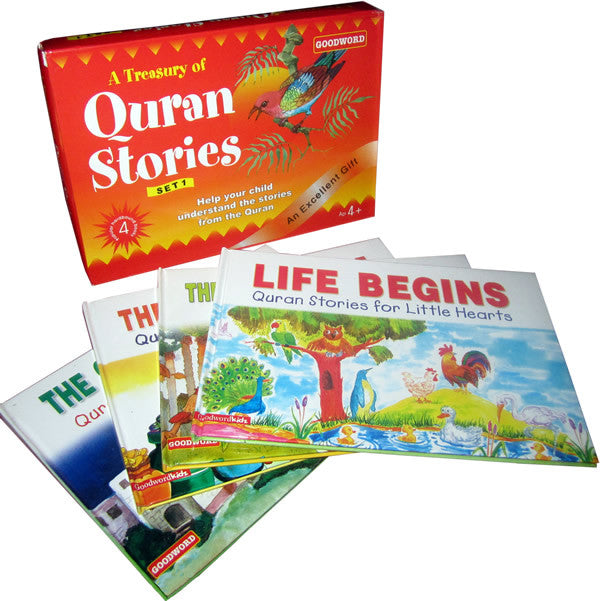 A Treasury of Quran Stories - 4 Books - Arabic Islamic Shopping Store