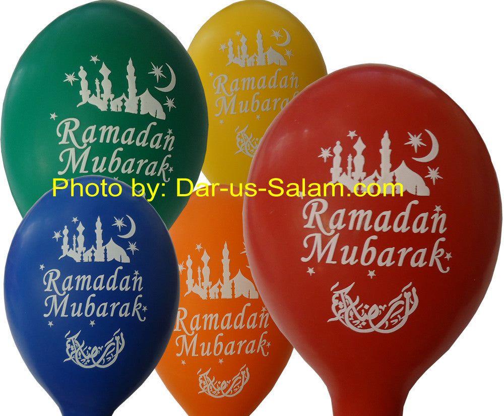 Eid Mubarak Latex Balloon (40 balloons in assorted colors) - Arabic Islamic Shopping Store