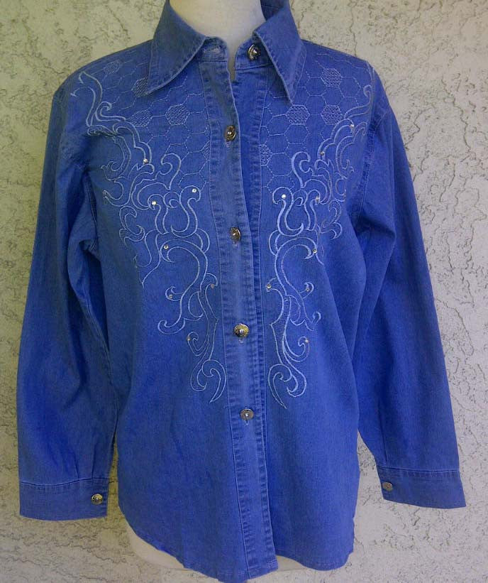 Classy Denim Shirt - Arabic Islamic Shopping Store