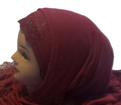 Noble Hijab with Lace - Arabic Islamic Shopping Store - 2
