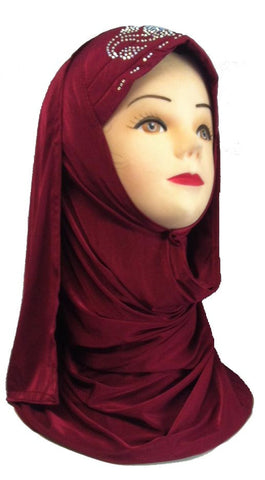 Solid colored Hijabs with headwrap - Arabic Islamic Shopping Store