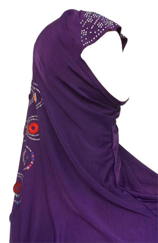 Hijab with beads and artistic prints - Arabic Islamic Shopping Store