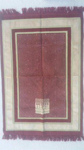 Kaaba Design Prayer Rug
