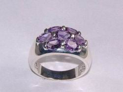 Sterling Ring With Genuine Amethyst - Arabic Islamic Shopping Store