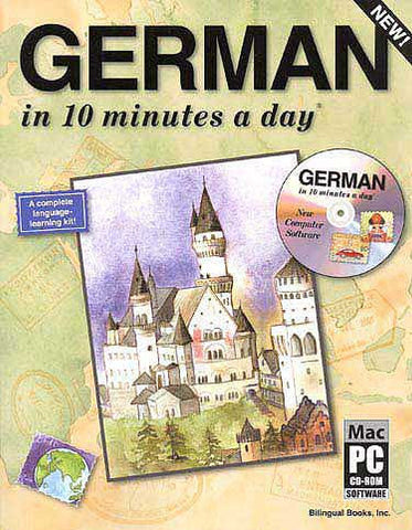 GERMAN in 10 minutes a day with CD-ROM - Language Study - Arabic Islamic Shopping Store