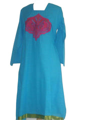Elegant kurta with embroidered patch-work - Arabic Islamic Shopping Store - 1