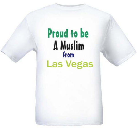 Muslim T-Shirts Clothing - Las Vegas, Nevada logo design for men and women - Arabic Islamic Shopping Store