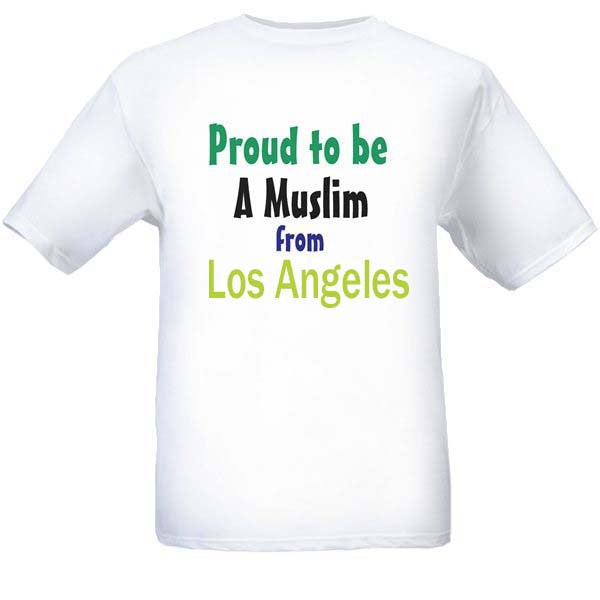 Muslim T-Shirts Clothing - Los Angeles, California logo design for men and women - Arabic Islamic Shopping Store
