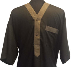 Fancy V Neck Dubai Thobe for Men - Arabic Islamic Shopping Store - 2