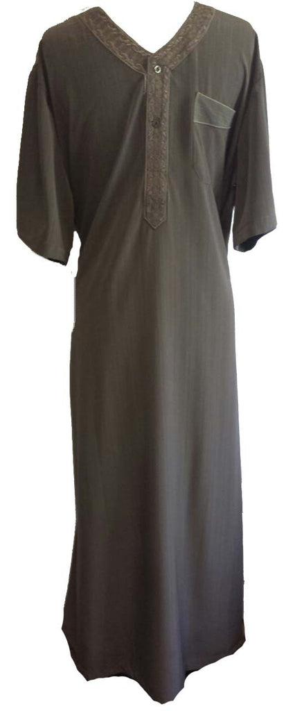 Stylish Short Sleeved Arabian Thobe - Arabic Islamic Shopping Store - 1