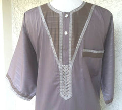 Formal Middle Eastern Thobe in Fall Colors - Arabic Islamic Shopping Store - 2