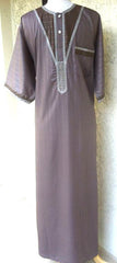 Formal Middle Eastern Thobe in Fall Colors - Arabic Islamic Shopping Store - 1