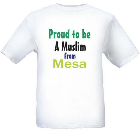 Muslim T-Shirts Clothing - Mesa, Arizona logo design for men and women - Arabic Islamic Shopping Store