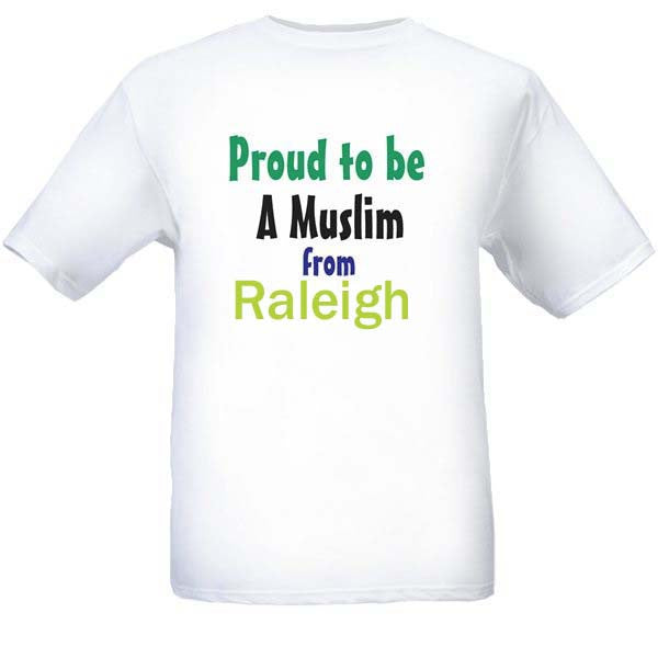Muslim T-Shirts Clothing - Raleigh, North Carolina logo design for men and women - Arabic Islamic Shopping Store