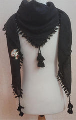 Royal Black Arabic Shemagh - Arabic Islamic Shopping Store - 3