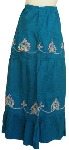 Embroidered Long Cotton Skirt - Arabic Islamic Shopping Store