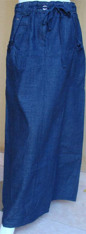 Spring Blue Long Denim Skirt - Arabic Islamic Shopping Store - 1