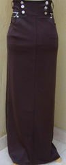 Elegant Long skirt with fancy Buttons - Arabic Islamic Shopping Store - 1