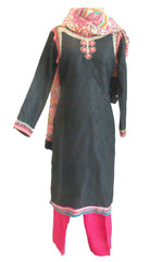 Pakistani Fashions Cotton Shalwar Kameez with Embroidery - Arabic Islamic Shopping Store - 1