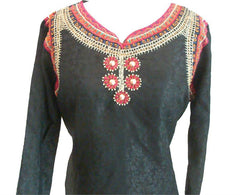 Pakistani Fashions Cotton Shalwar Kameez with Embroidery - Arabic Islamic Shopping Store - 2