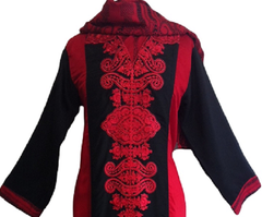 Dual tone Embroidered Cotton Salwar Kameez - Arabic Islamic Shopping Store - 2