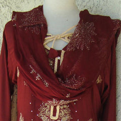 Elegant Pakistani Churidar Shalwar Kameez - Arabic Islamic Shopping Store - 2