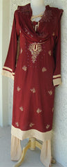 Elegant Pakistani Churidar Shalwar Kameez - Arabic Islamic Shopping Store - 1