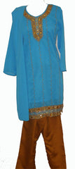 Colorful and Stylish Women Salwar Kameez - Model 30006 - Arabic Islamic Shopping Store - 2
