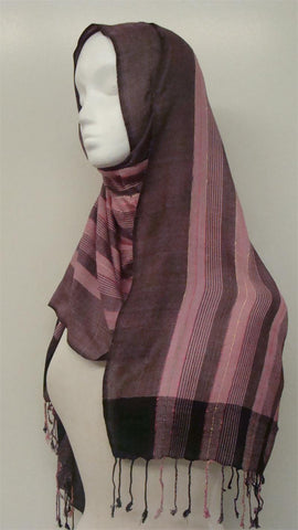 Multi-colored lining Shawl - Arabic Islamic Shopping Store