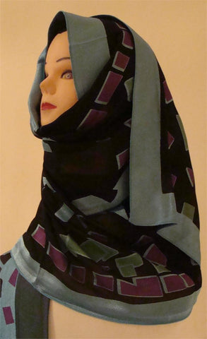"""Artistic Landscape"" Dubai Shawl and Hijab for Elegant Women - Arabic Islamic Shopping Store"