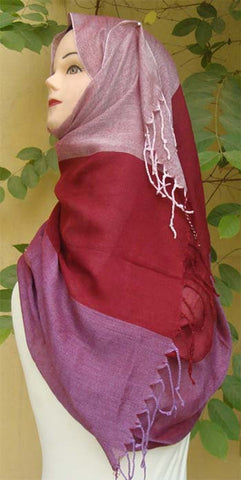 Triple shaded Plain Shawls for Islamic Women - Arabic Islamic Shopping Store