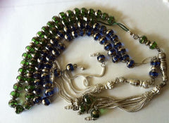 Glass crystal Prayer beads with silver danglers - Arabic Islamic Shopping Store - 2