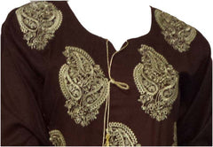 Rabiya Ethenic Long Sleeved Embroidered Tunic Top - Arabic Islamic Shopping Store - 2
