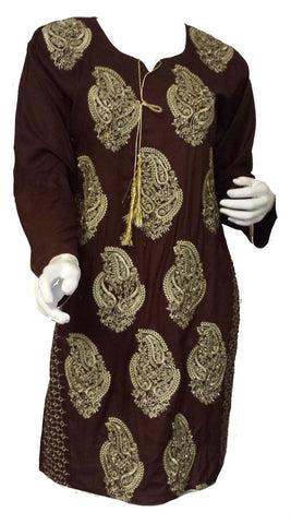 44da7494490d60 Rabiya Ethenic Long Sleeved Embroidered Tunic Top - Arabic Islamic Shopping  Store - 1