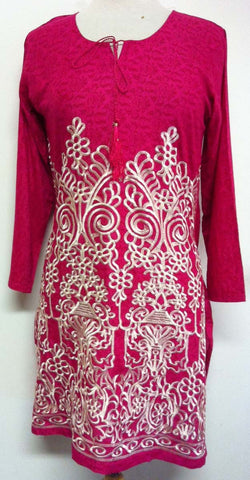 Eeshal Elegant Long Sleeved Embroidered Tunic Top - Arabic Islamic Shopping Store