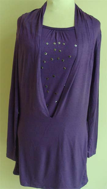 "Modest Stylish Tunic Top with Studs (Bust: 37"") - Arabic Islamic Shopping Store"