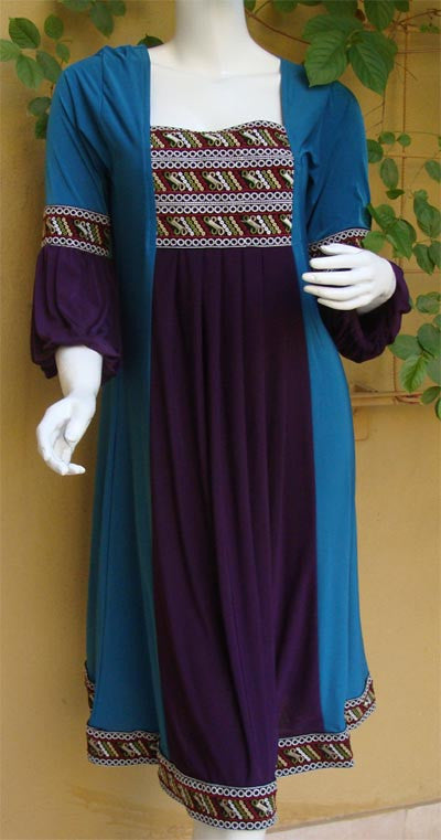 Two Tone Elegant and Flattering Kurta Top - Arabic Islamic Shopping Store