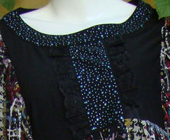 New Fashion Printed Tunic Tops with Sequins - Arabic Islamic Shopping Store - 3