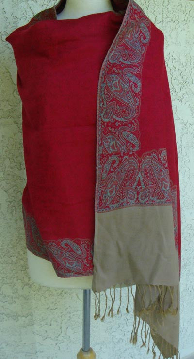 Elegant Kashmiri Style Winter shawls - Arabic Islamic Shopping Store - 1
