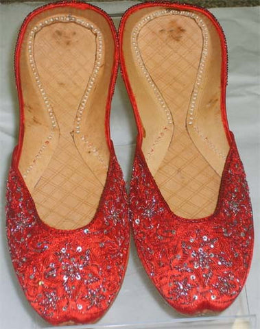 Fancy Pakistani / Indian Khussa Ladies Shoes - Model 1016 - Arabic Islamic Shopping Store
