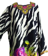 Zebra-print Spring Collection Kimono Kaftan - Arabic Islamic Shopping Store - 2