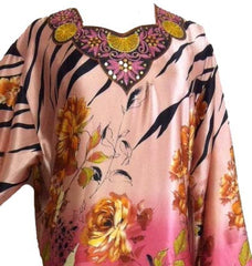 Zebra-print Floral Collection Kimono Kaftan - Arabic Islamic Shopping Store - 2
